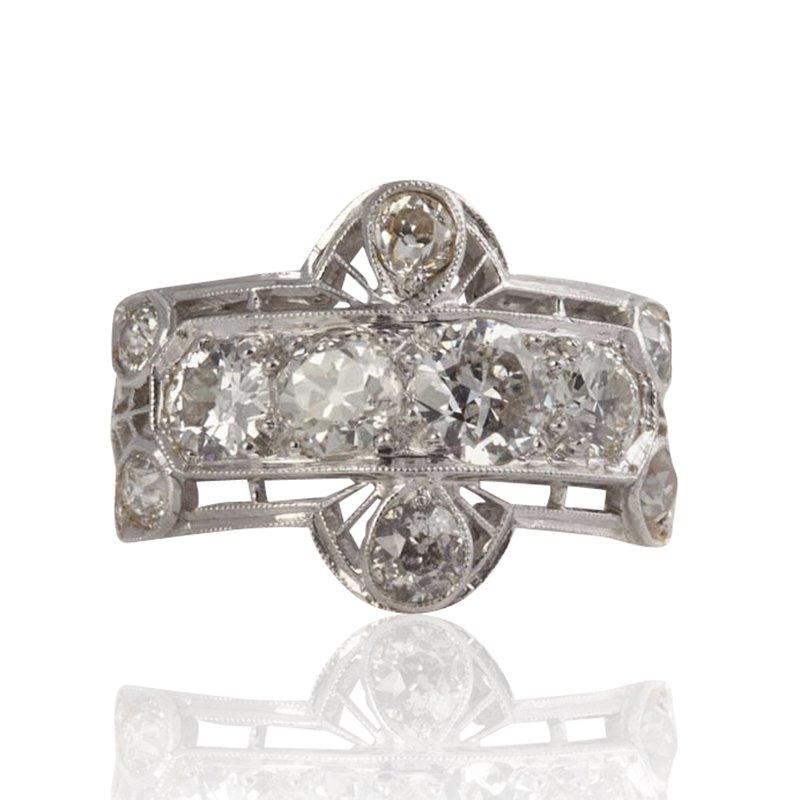 Diamond Estate Buckle Ring