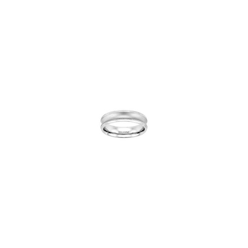 Concave White Gold Wedding Band