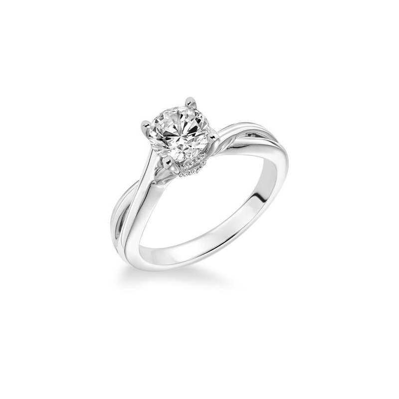 Solitaire with Split Shank Engagement Ring