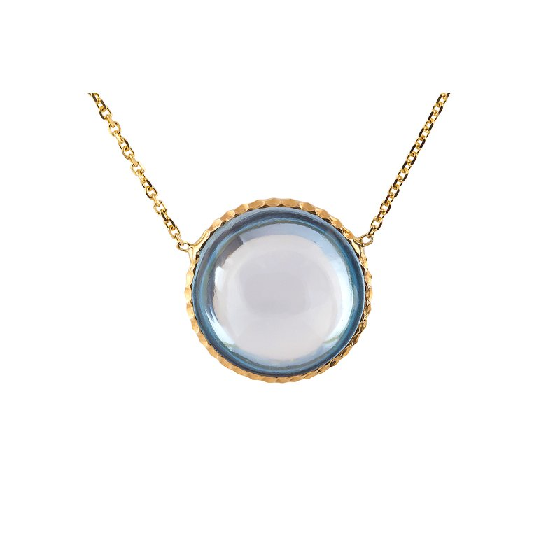 Blue Topaz Cabochon Necklace