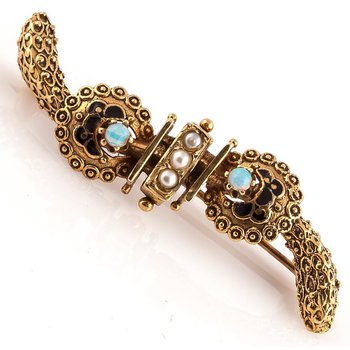 Victorian Etruscan Revival Brooch