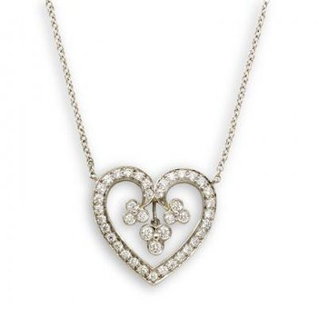 Diamond Lace Heart Pendant