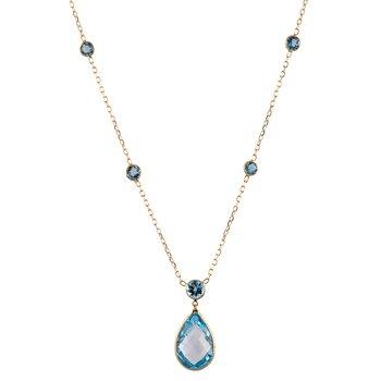 Blue Topaz Drop Necklace