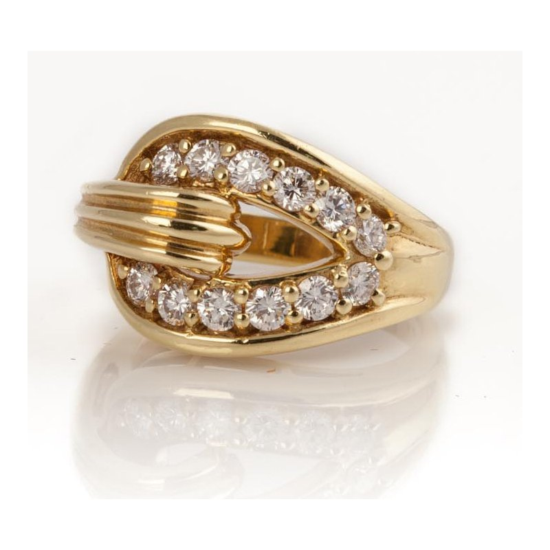Gold and Diamond Knot Ring