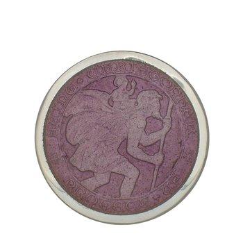Lavender Medium St. Christopher Medal