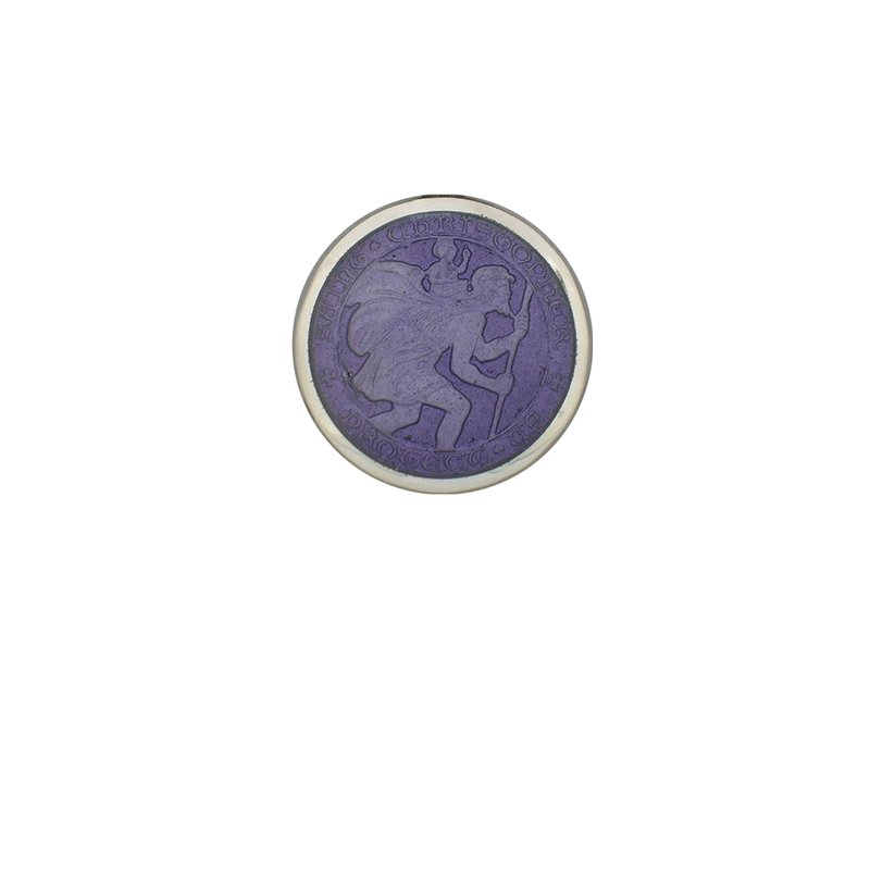 Purple Extra Small St. Christopher Medal