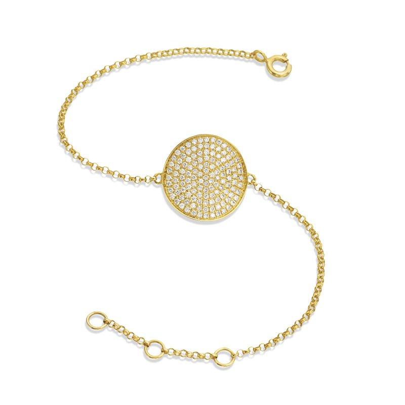 Diamond Pave Disc Bracelet