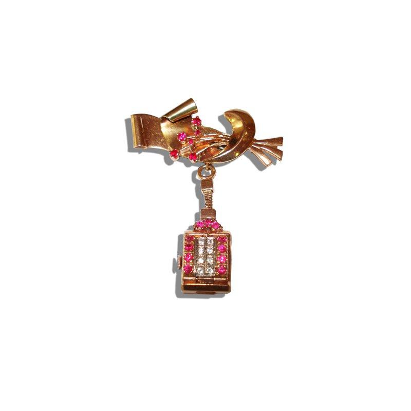 Retro Rose Gold Pendant Watch