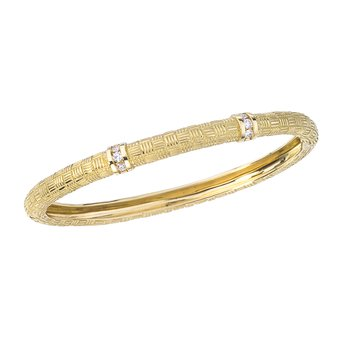 Parquet Bangle with Diamonds