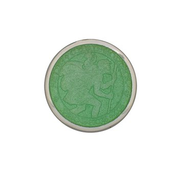Light Green Small St. Christopher Medal