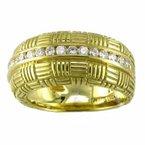 Gold Diamond Parquet Band