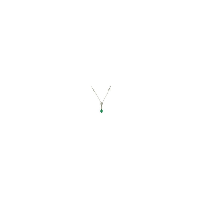 Eternity Emerald Pendant