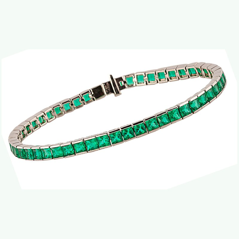 Eternity Natural Emerald Line Bracelet