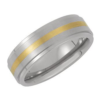 Titanium Band with Gold Inlay