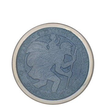 Gray Large St. Christopher Medal