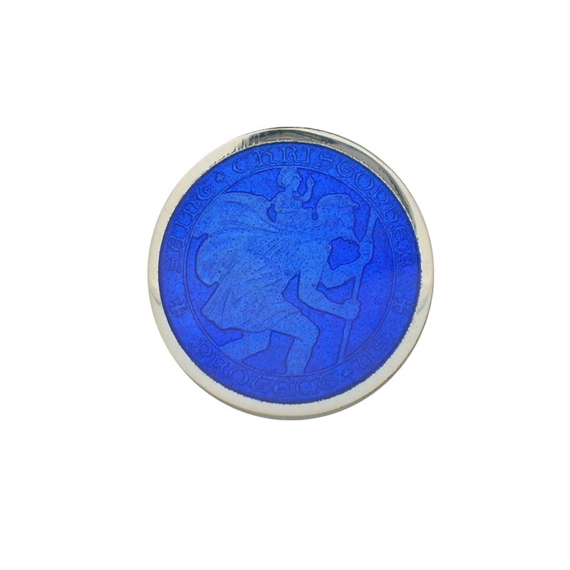 Royal Blue Small St. Christopher Medal