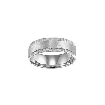 White Gold Brushed Finish Band