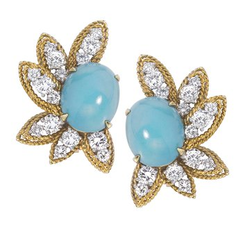 Marianne Ostier Turquoise Ear Clips