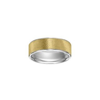 Yellow Gold Satin Finish Wedding Band