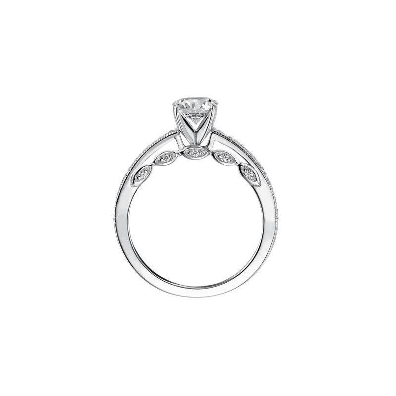 Scalloped Diamond Engagement Ring