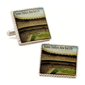 Authentic Yankees Stadium Stamp Cuff Links