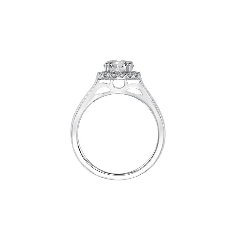 Magnificent Diamond Prong Set Halo Paired with a high Polished Band