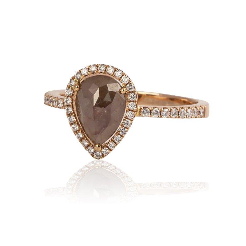 Chocolate Diamond Slice Ring