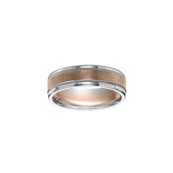 Rose and White Gold Wedding Band