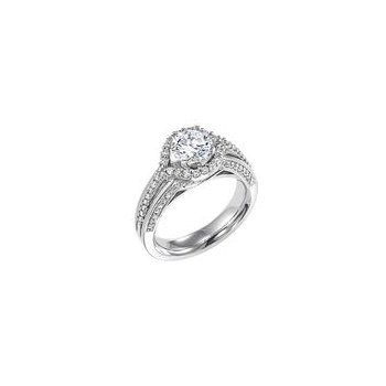 Triple Shank Diamond Engagement Ring