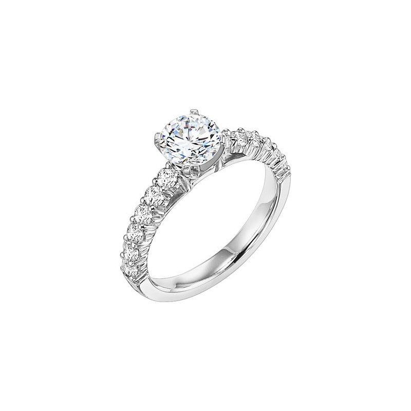 Magnificent shared prong diamond Engagement Ring