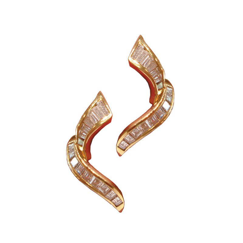 Diamond Baguette Earrings