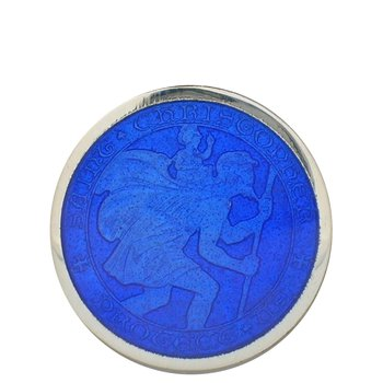 Royal Blue Large St. Christopher Medal