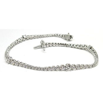 Diamond Wave Line Bracelet