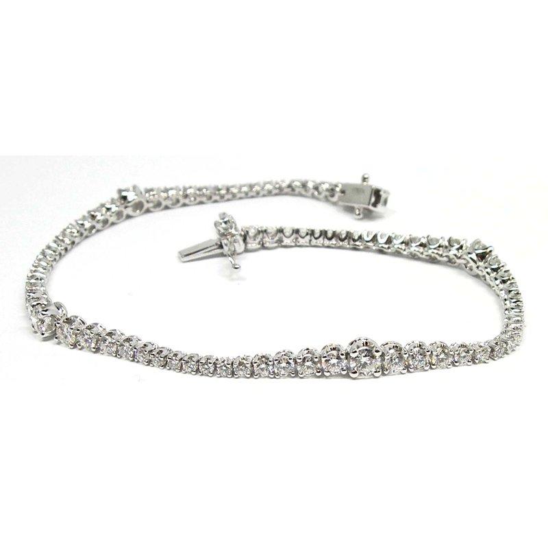 Diamond Wave Line Bracelet