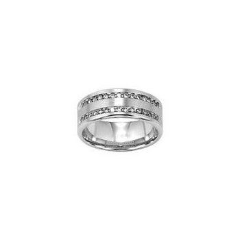 Gents Double Row Diamond Band