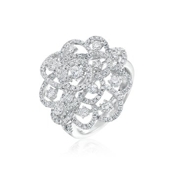 Openwork Diamond Ring