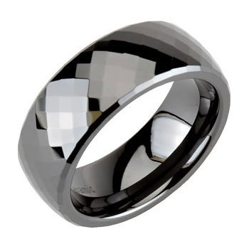 Faceted Black Ceramic Band