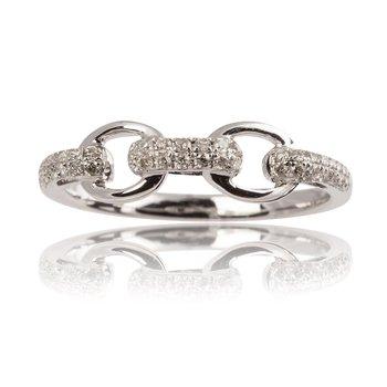 Diamond Link Band Ring