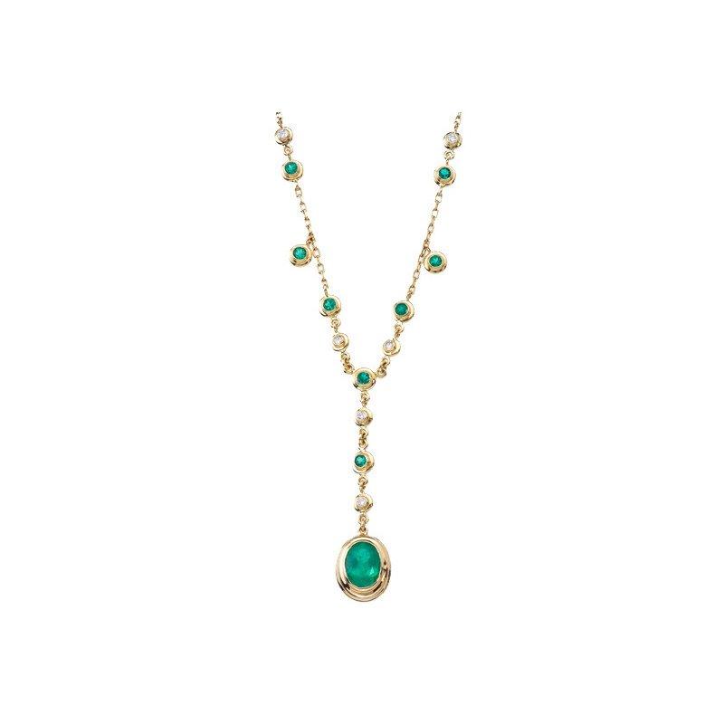 Emerald Drop Necklace