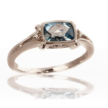 Blue Topaz East / West Ring