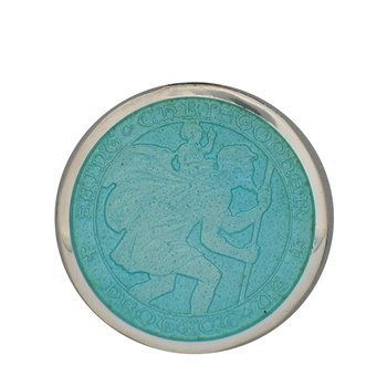 Light Blue Medium St. Christopher Medal