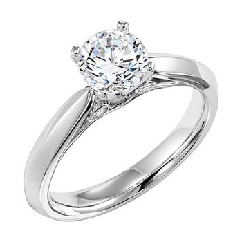 Surprise Diamond Solitaire Engagement Ring