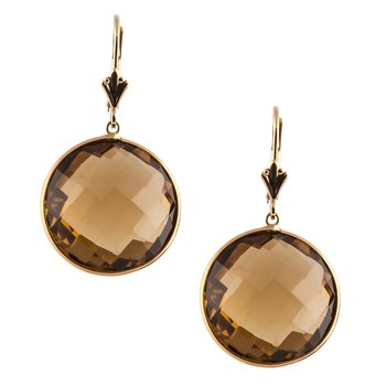 Whiskey Topaz Dangle Earrings