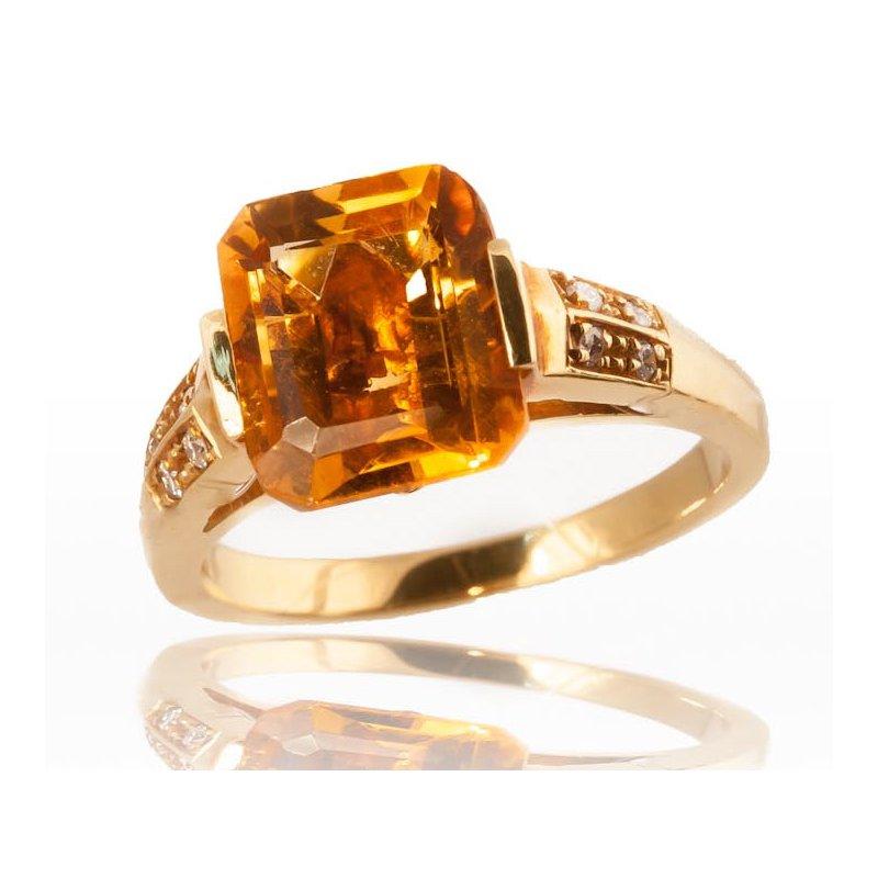 Unique Citrine Ring