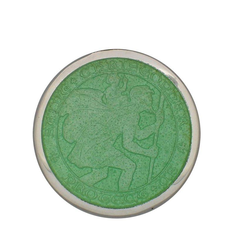 Lt. Green Medium St. Christopher Medal