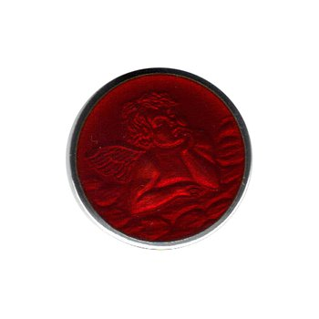 Red Enamel Cherub Medal Small