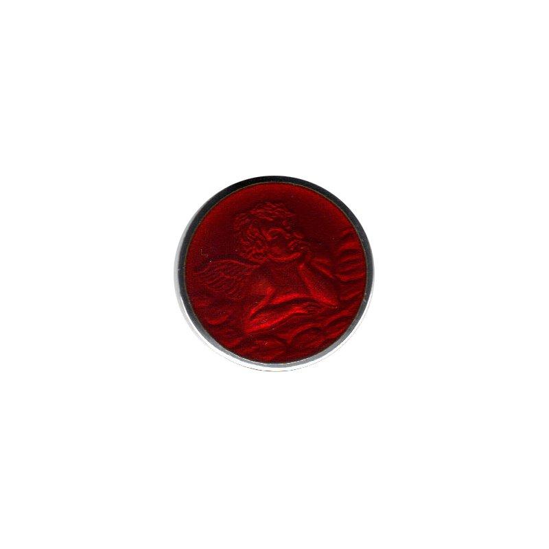 Red Enamel Cherub Medal Small