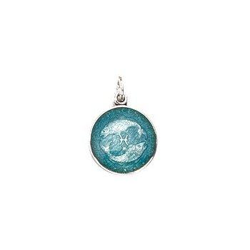 Zodiac Enamel Pisces Charm Small