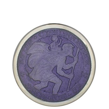 Purple Large St. Christopher Medal