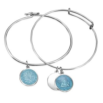 St. Christopher and Cherub Charm with Bracelet